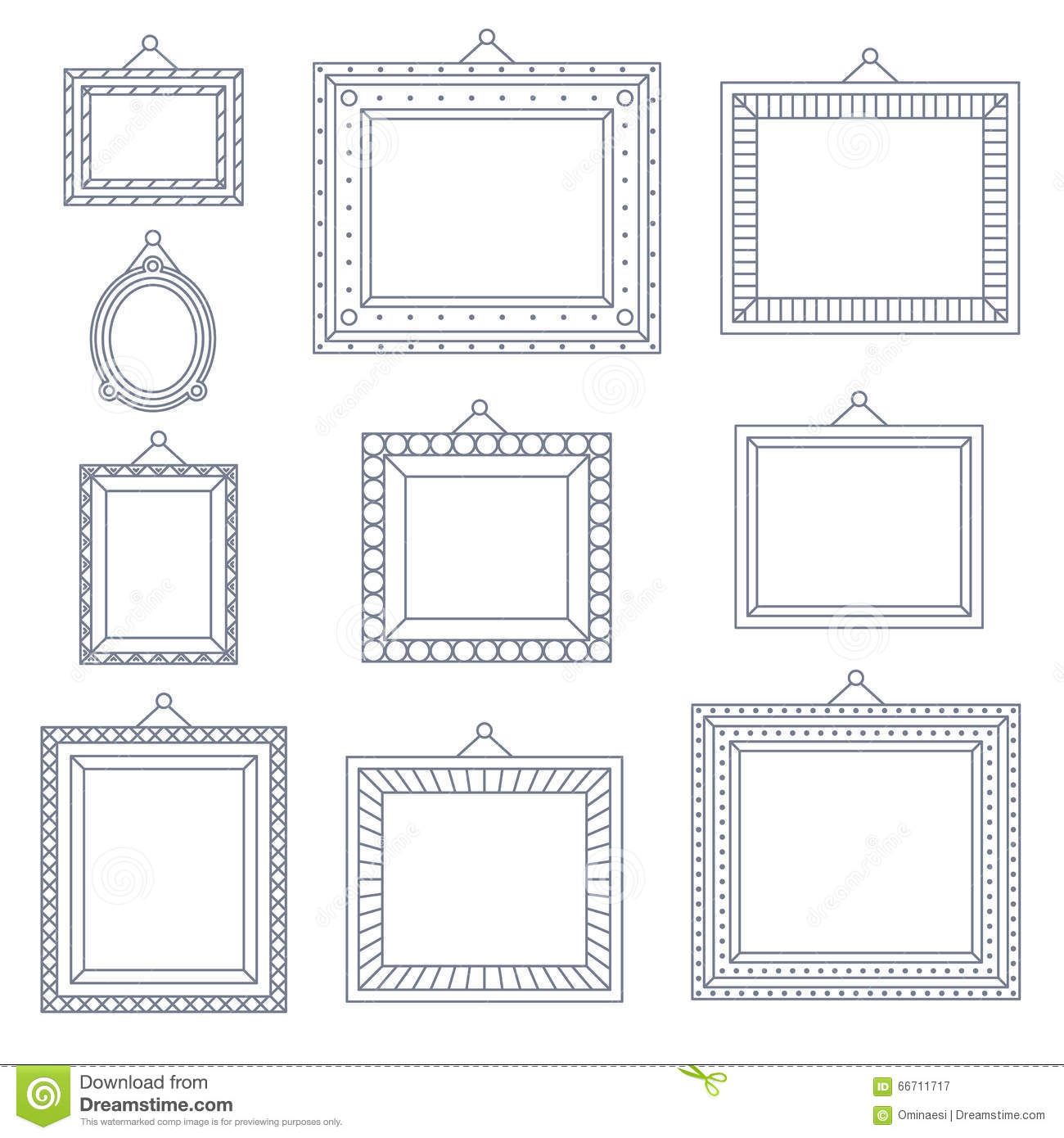 Line Art Frame Photo Picture Painting Decoration Drawing Symbol ...