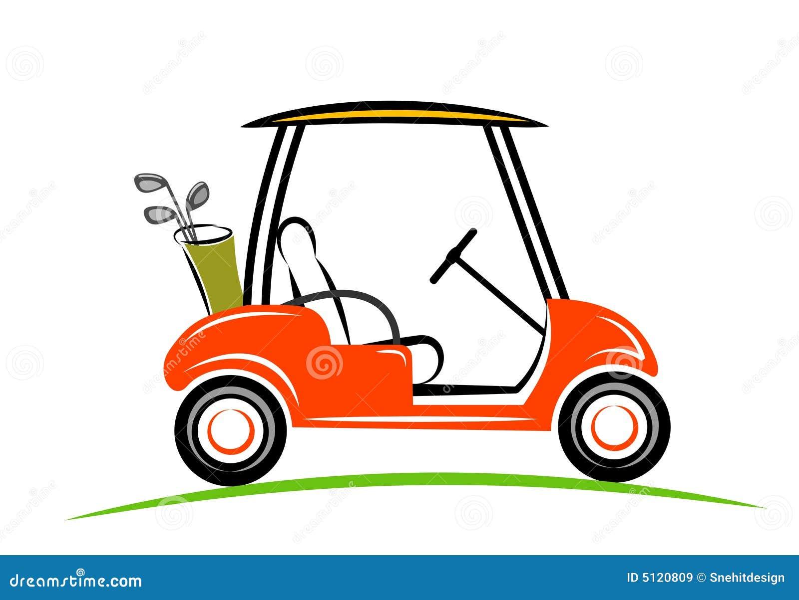 Line Art Car : Line art of golf car royalty free stock images image