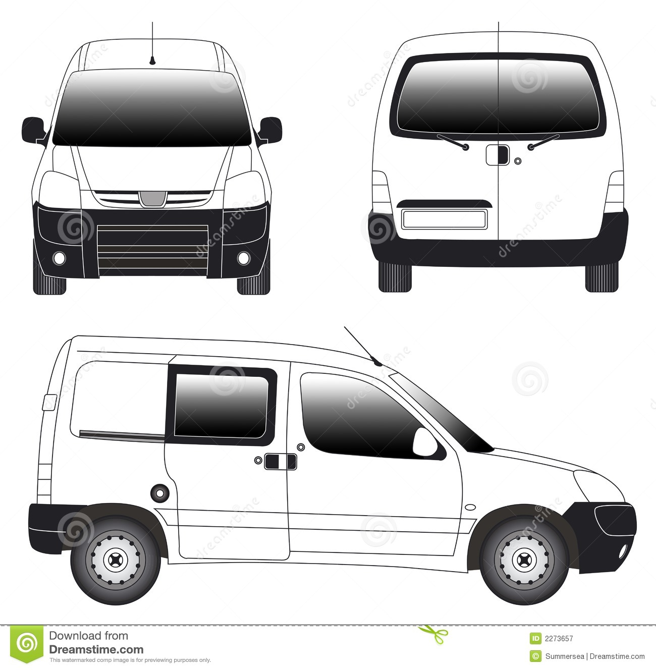 Line Drawing Van : Line art mini van royalty free stock photography image