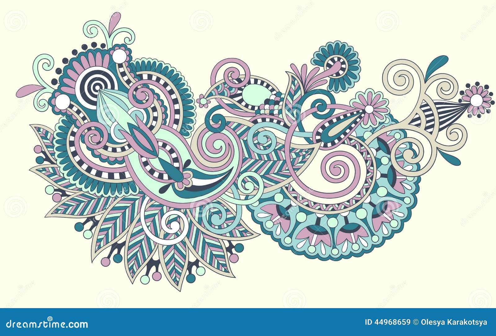 Line Art Ornate Flower Design : Line art ornate flower design stock vector image