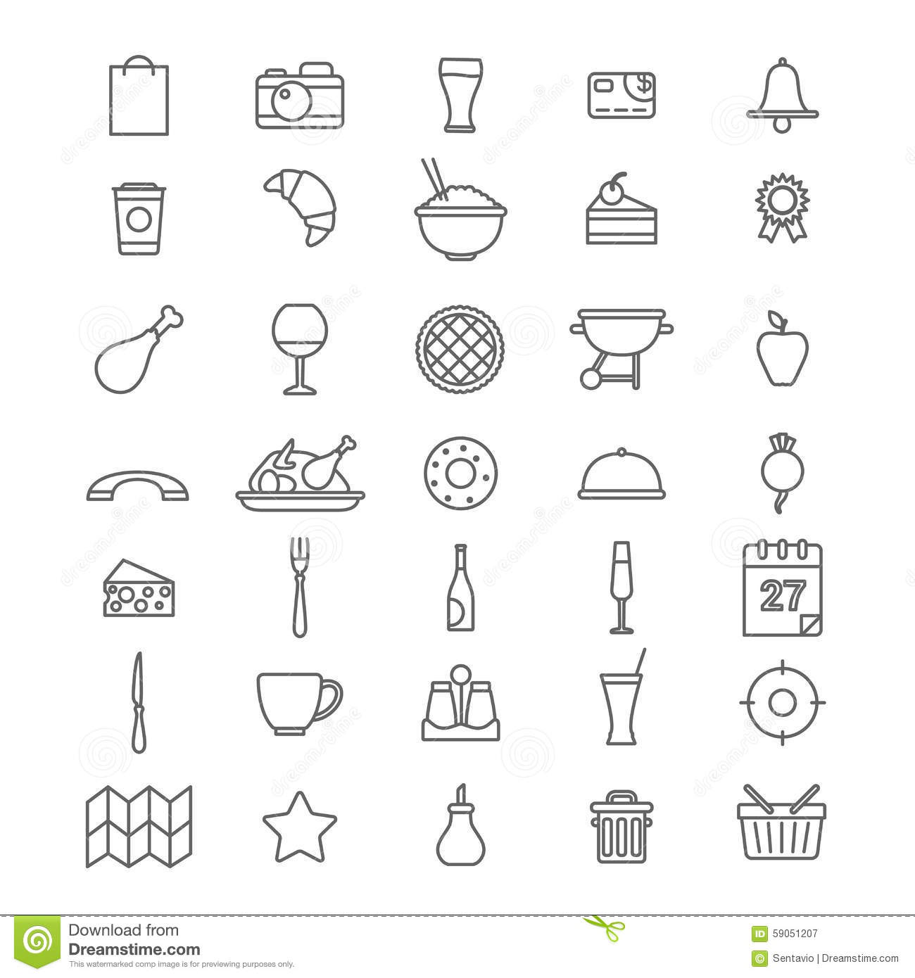 Line Art Icons : Line art style flat graphical set of web site mobile