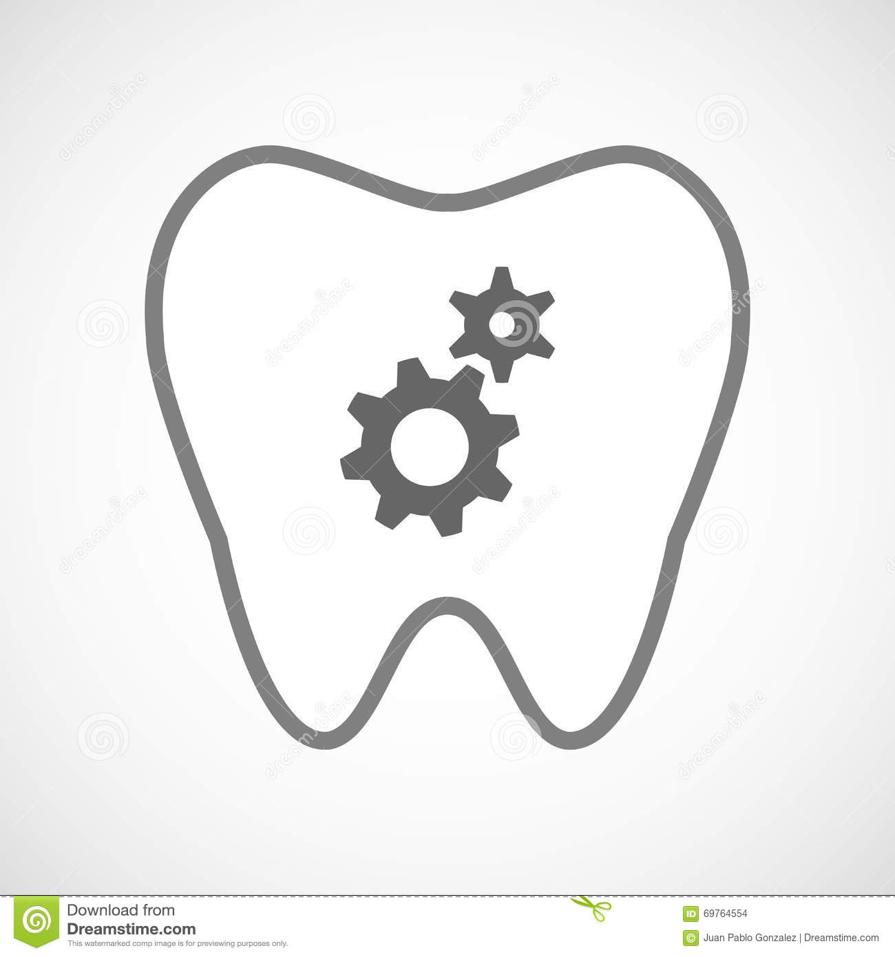 Tooth Line Drawing Tumblr : Line art tooth icon with two gears stock illustration