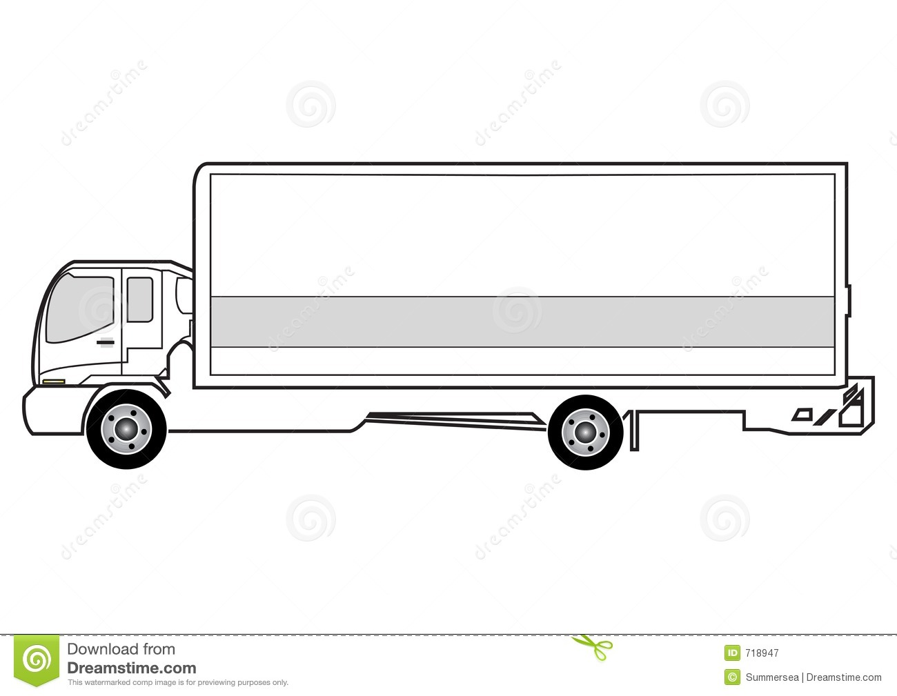 Line Art Truck : Line art truck royalty free stock photography image