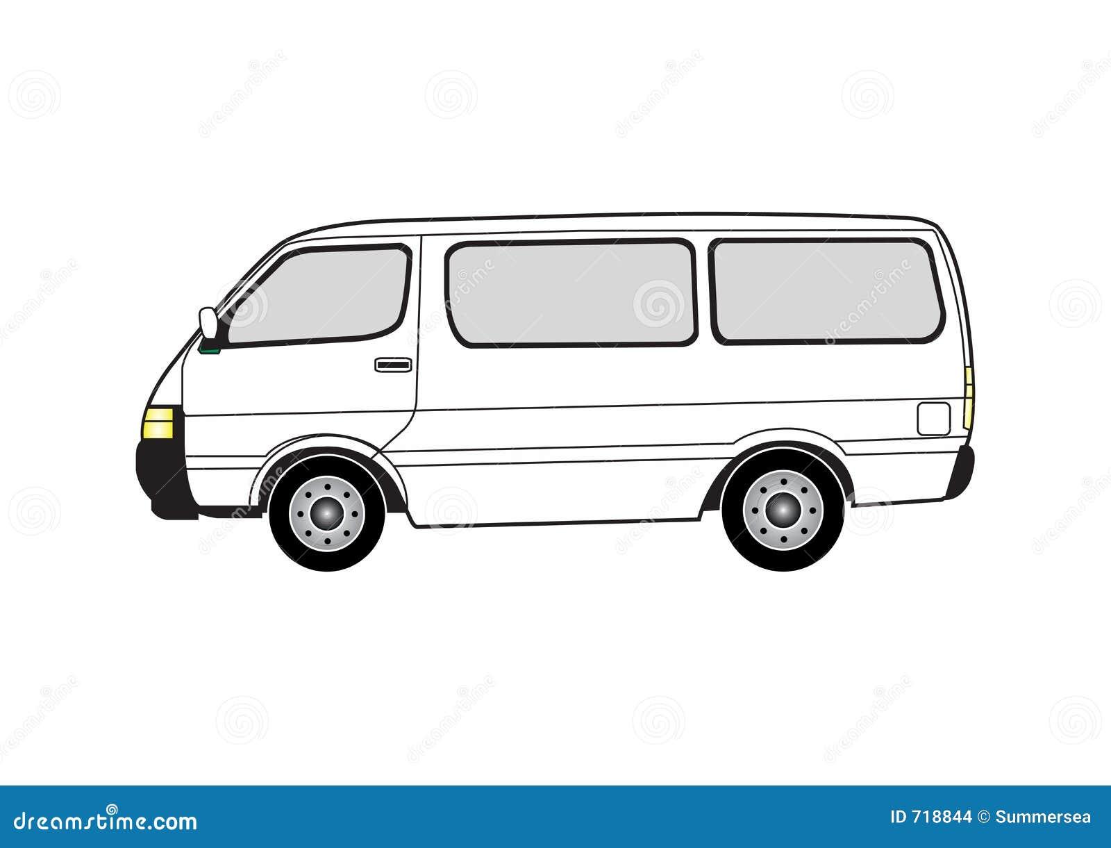 Van Clipart Line art - van