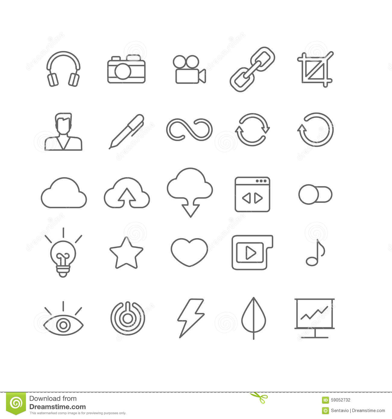 Line Art App : Line art vector flat graphical set of mobile interface app