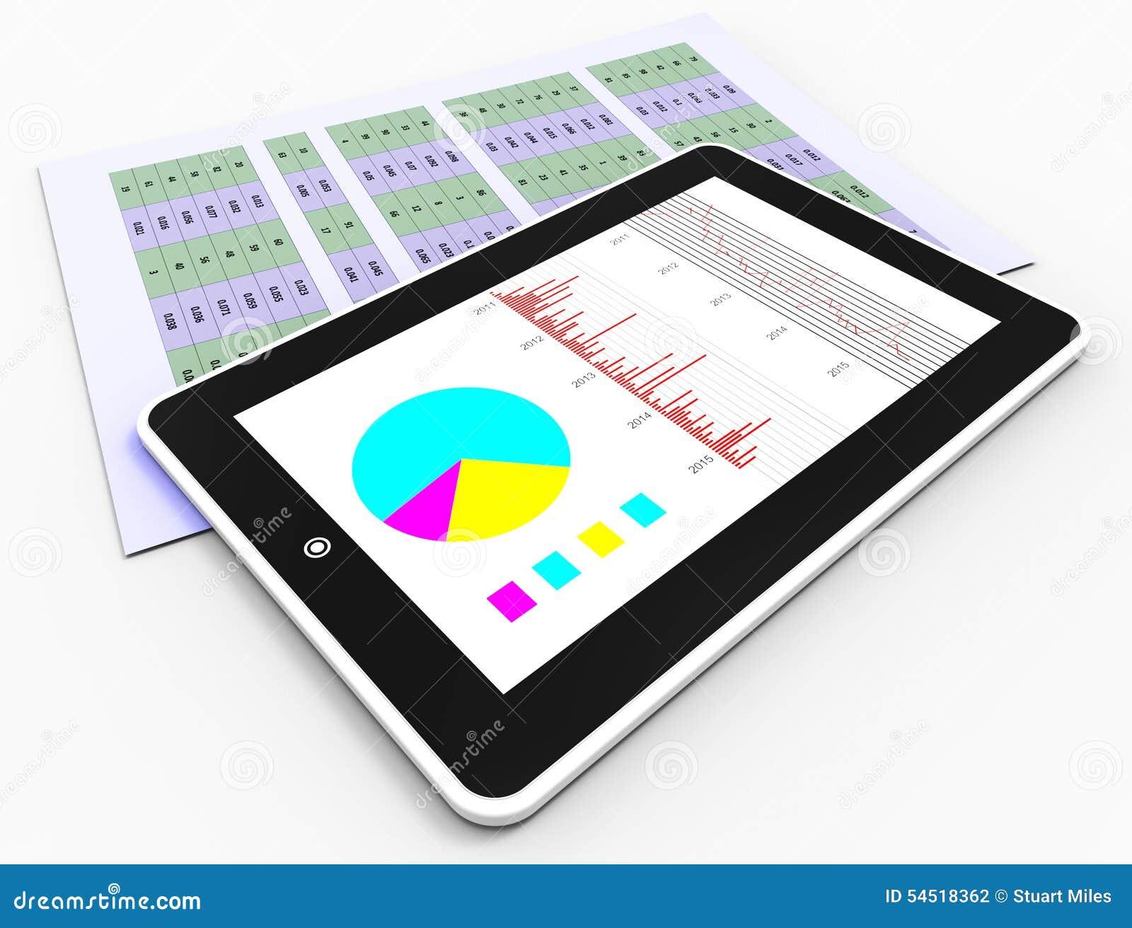 On-line-Berichte stellt Geschäfts-Diagramm und Analyse dar