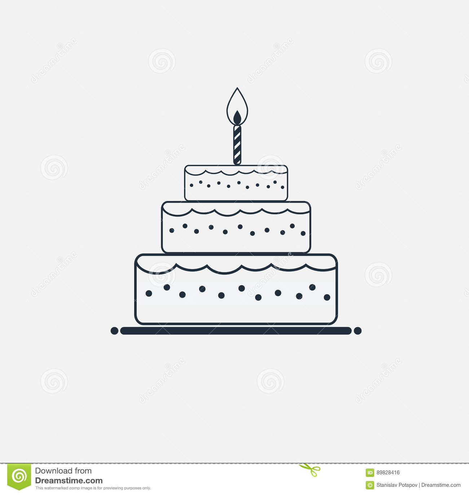 Line cake icon minimal flat style stock vector illustration of line cake icon minimal flat style buycottarizona