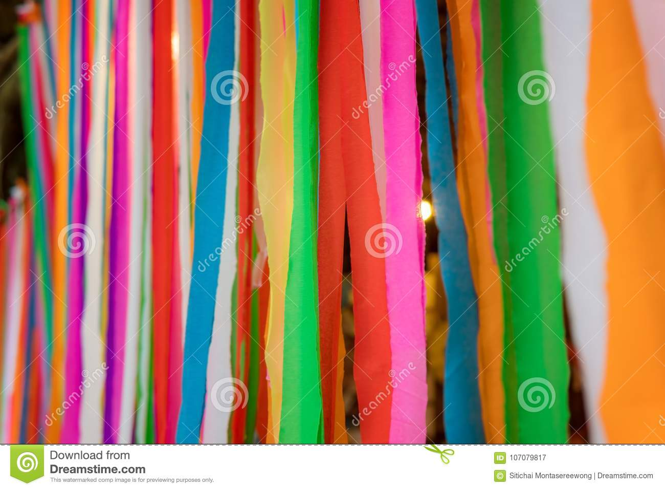 Line of colorful fabric and look beautiful.