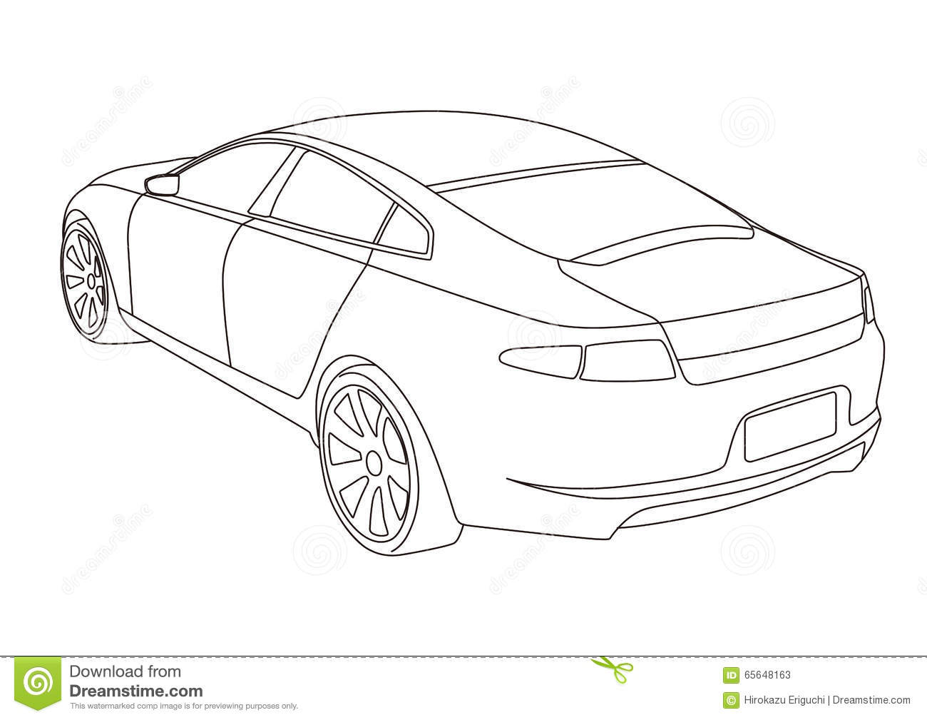 Line Drawing Car : Stock photos line drawing car illustration image
