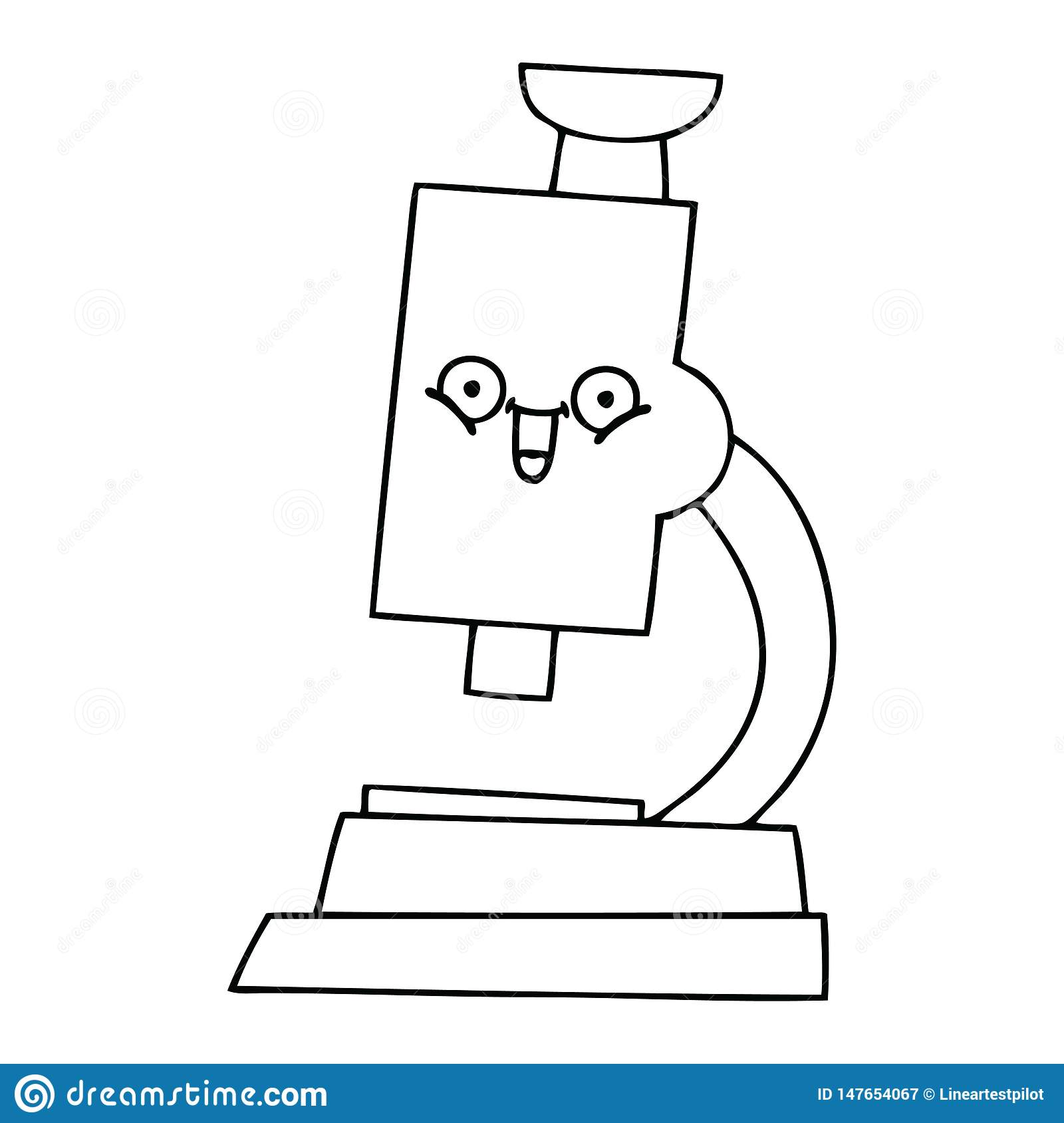 line drawing cartoon microscope stock vector illustration of cartoon magnifier 147654067 dreamstime com