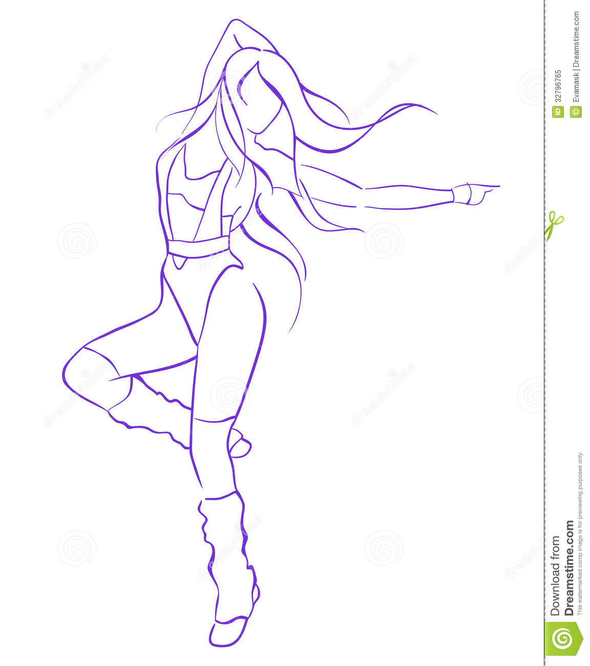 Line Drawing Girl : Line drawing girl jumping royalty free stock photo image