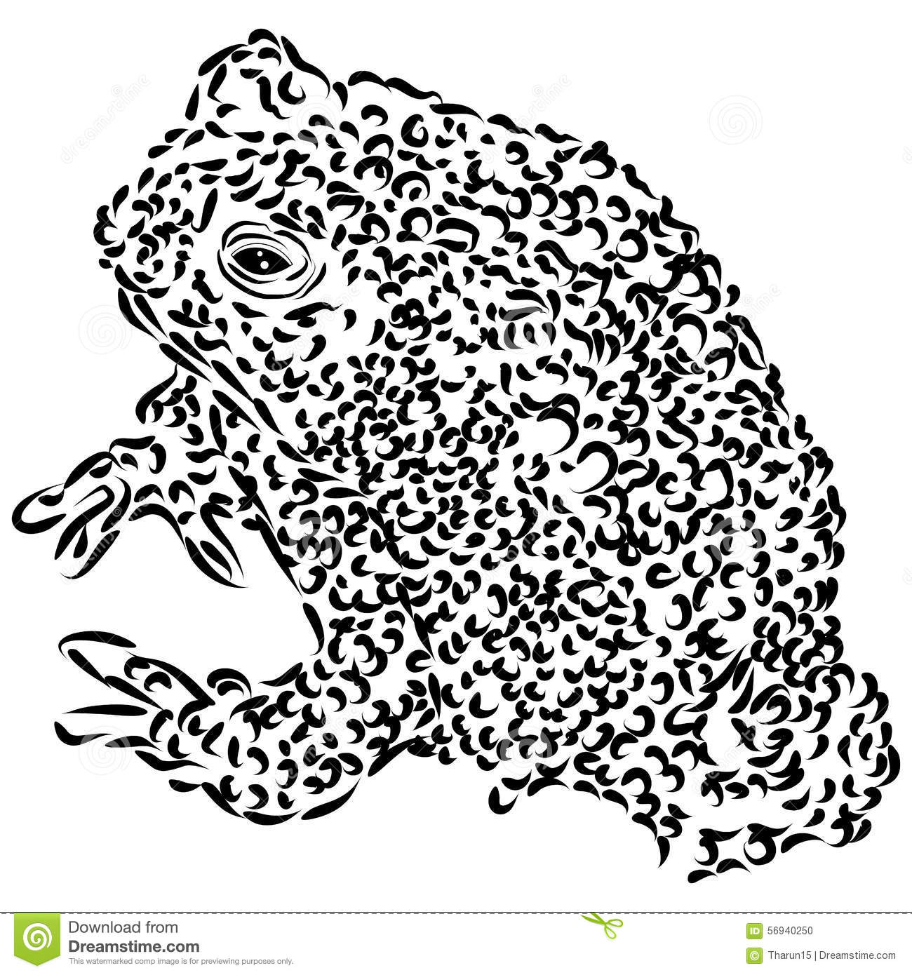 Line Drawings Of Endangered Animals : Line drawing of wyoming toad stock illustration image