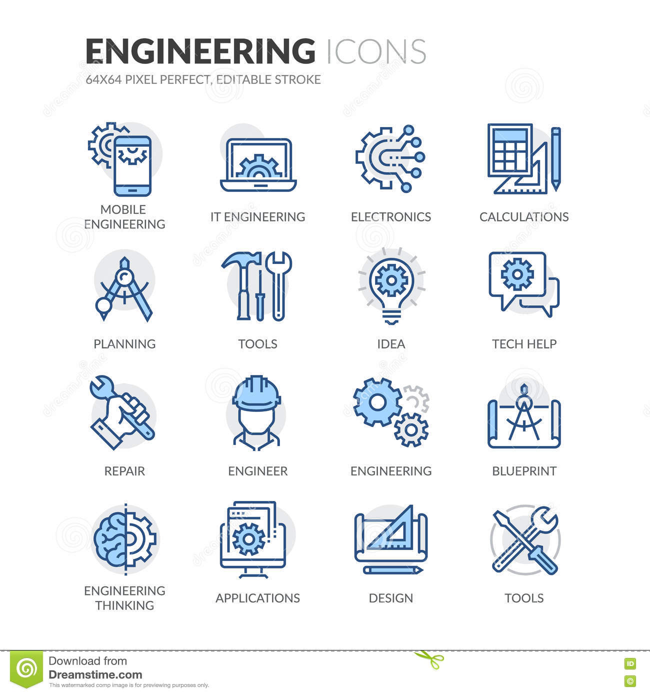 Line engineering icons stock vector illustration of help 76430989 download comp malvernweather Choice Image