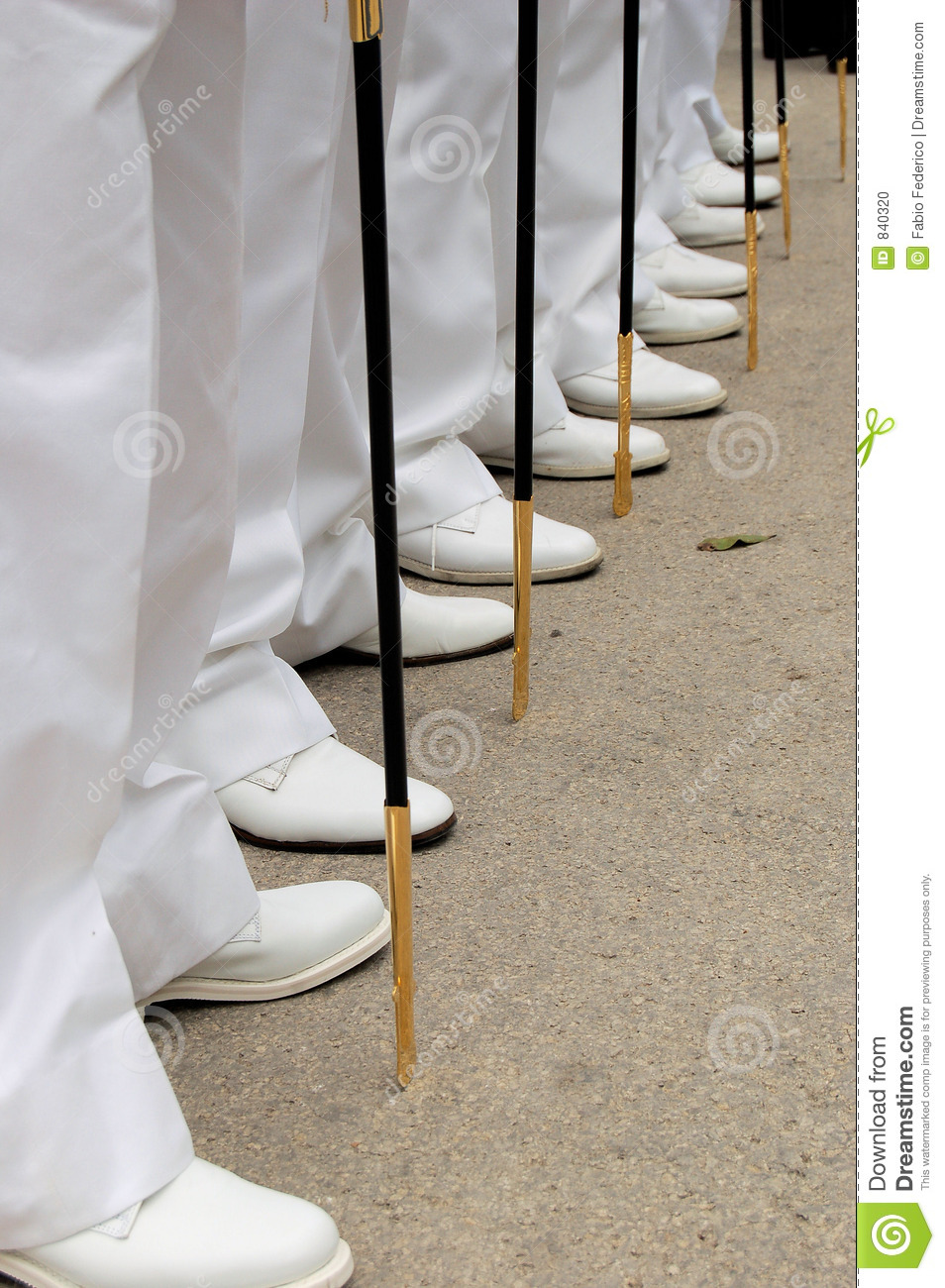 Line of feets and swords
