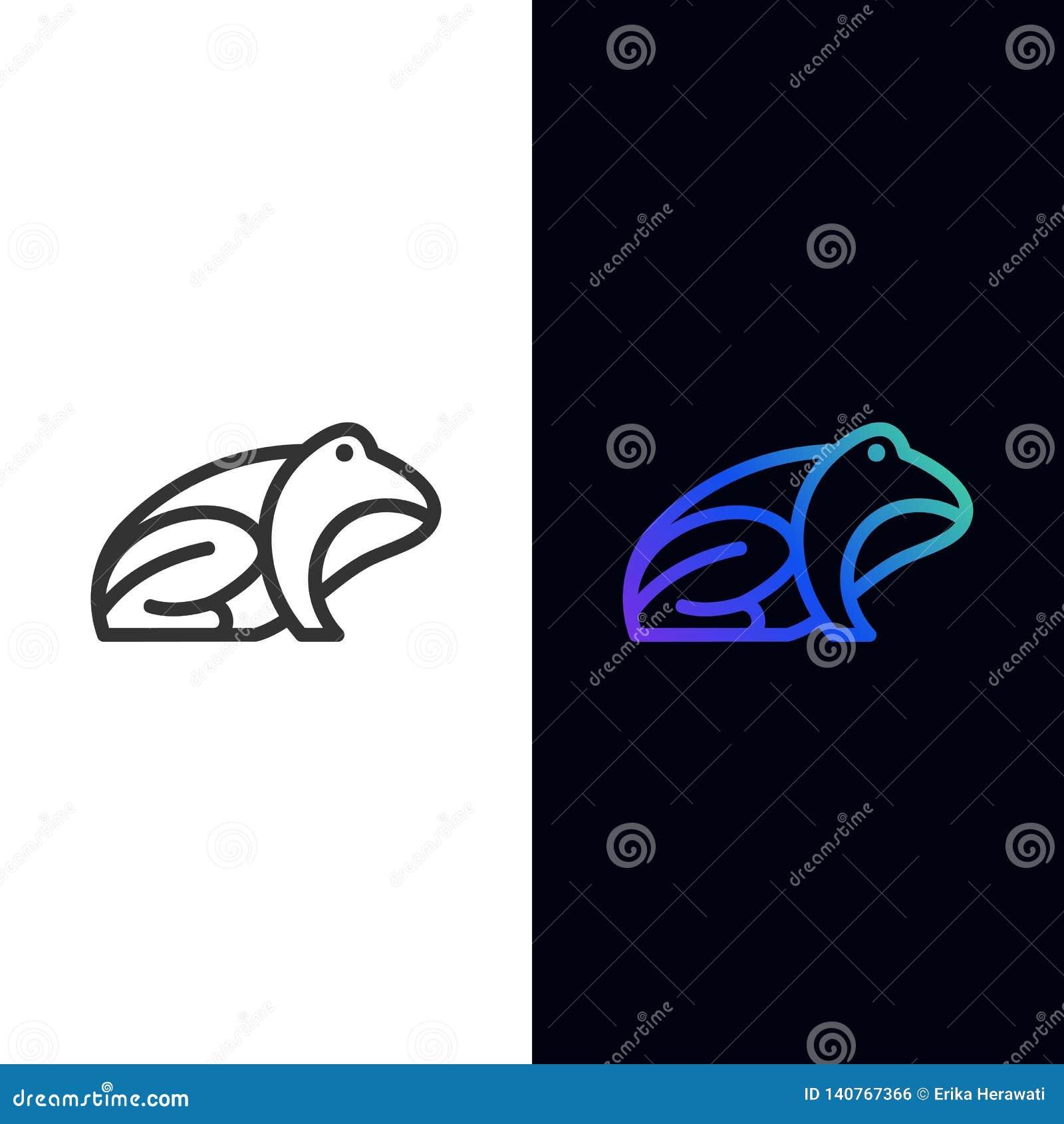 Line Frog Color Designs illustration vector template