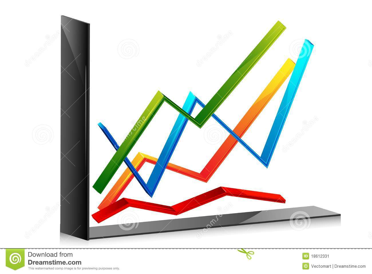 line graph stock vector. illustration of editable, account - 18612331