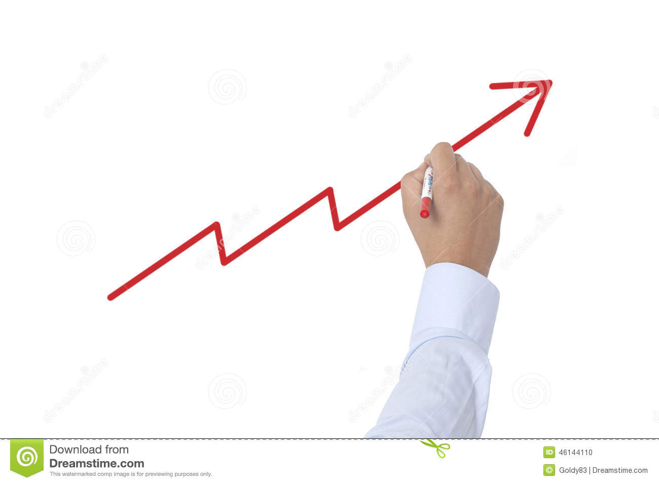 Drawing Line Graphs By Hand : Line graph drawing stock photo image