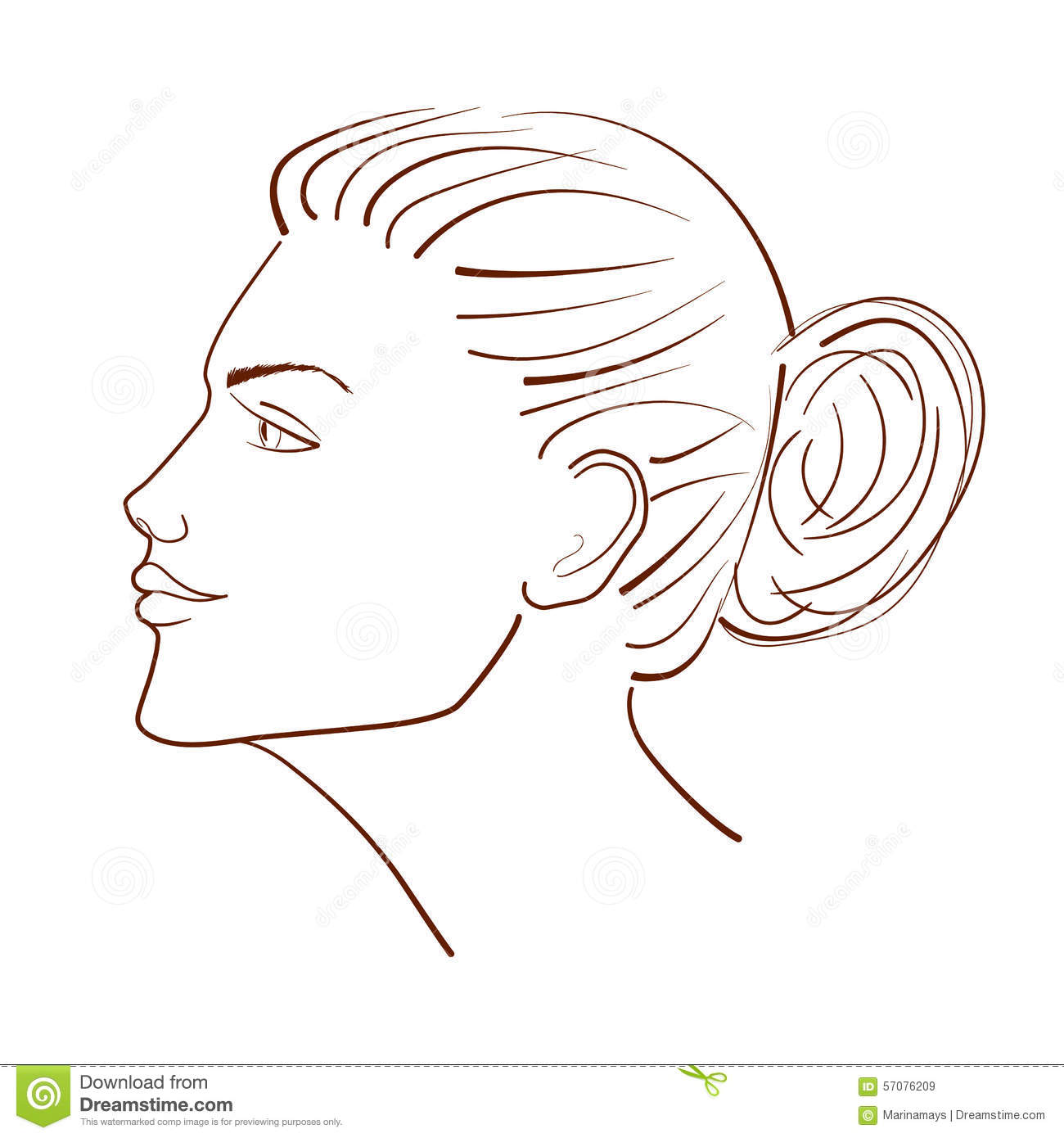 Line Drawing Face Profile : Face profile drawing outline imgkid the image