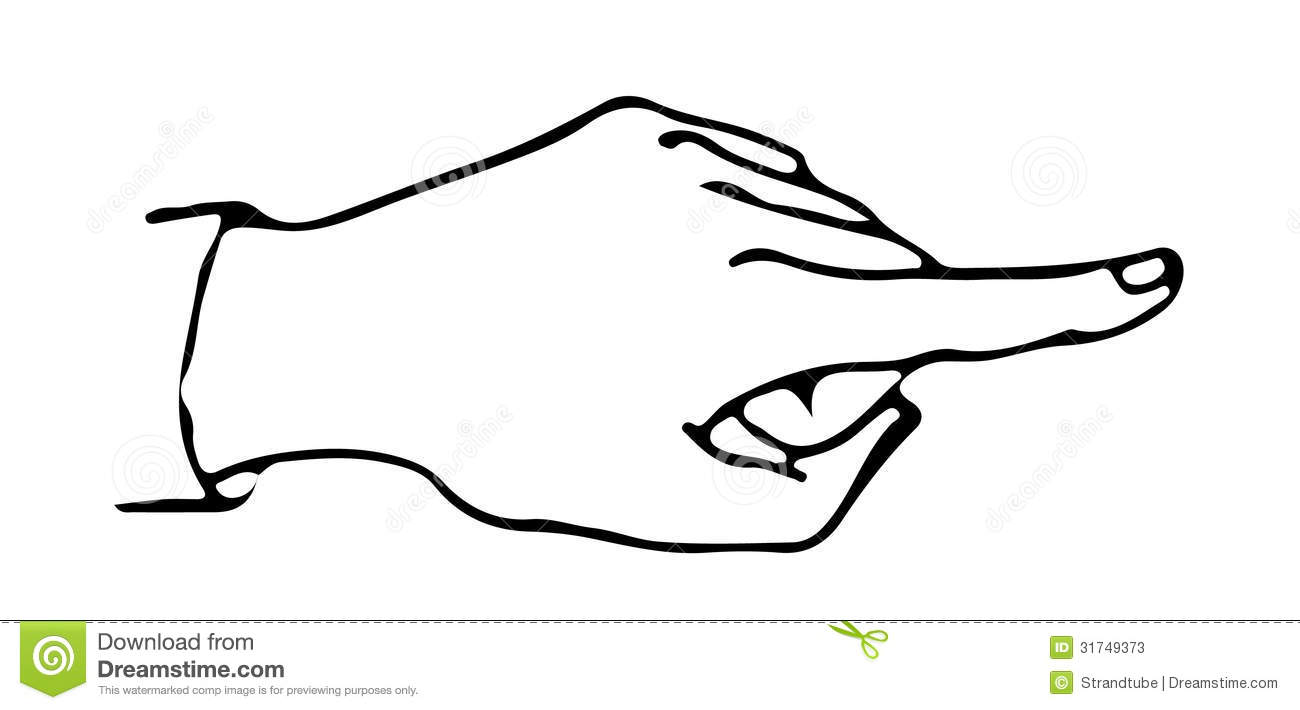 Someone Pointing Coloring Page