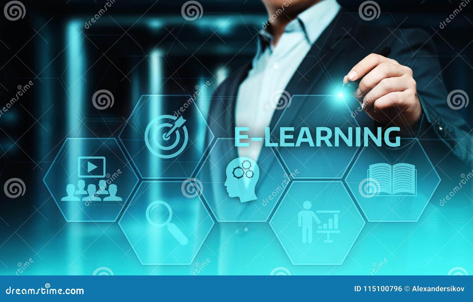 On-line-Kurskonzept E-Learning-Bildungs-Internet-Technologie Webinar