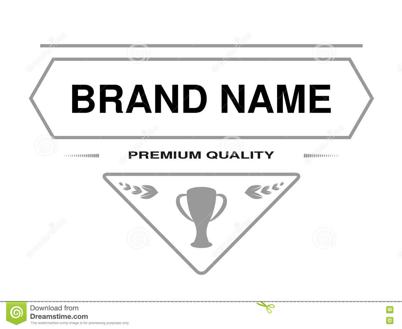 Line Label Triangle Frame For Brand Name With Text Premium Quality