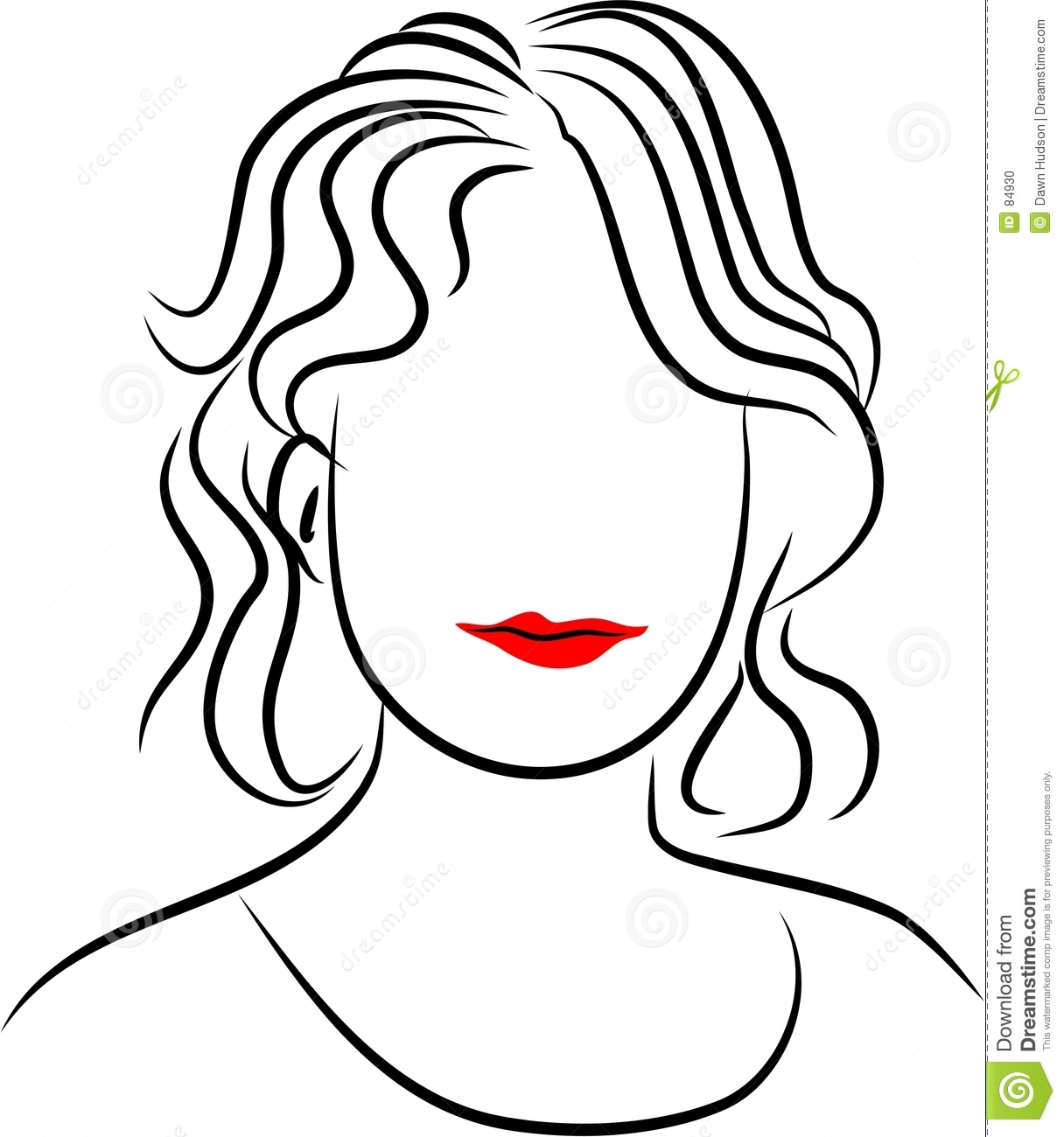 Line Drawing Lady : Line lady stock photo image