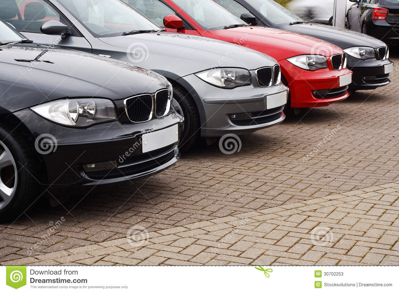 Line Of Luxury Used Cars Stock Image Image Of Luxury