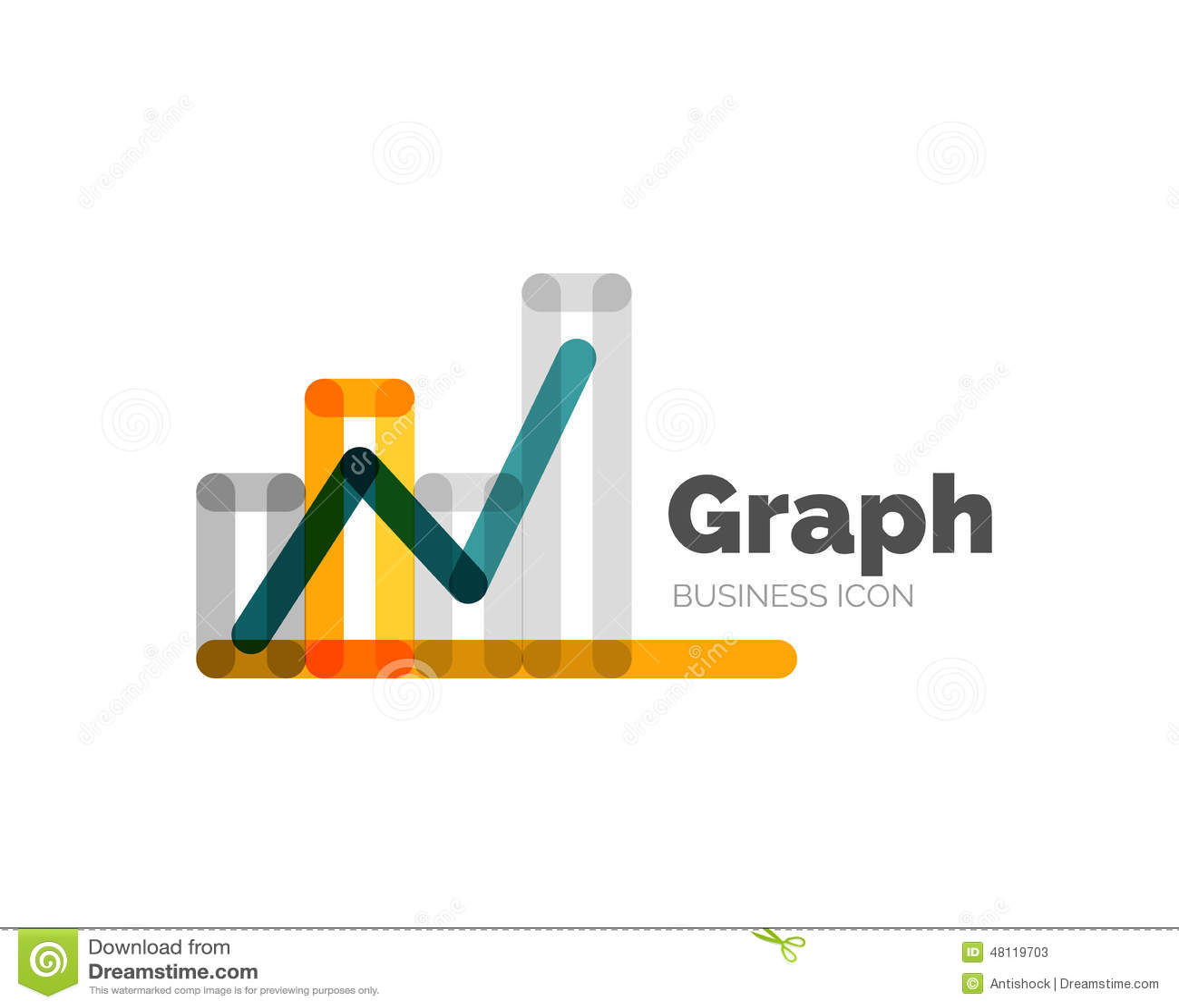Line Logo Design : Line minimal design logo graph stock vector illustration