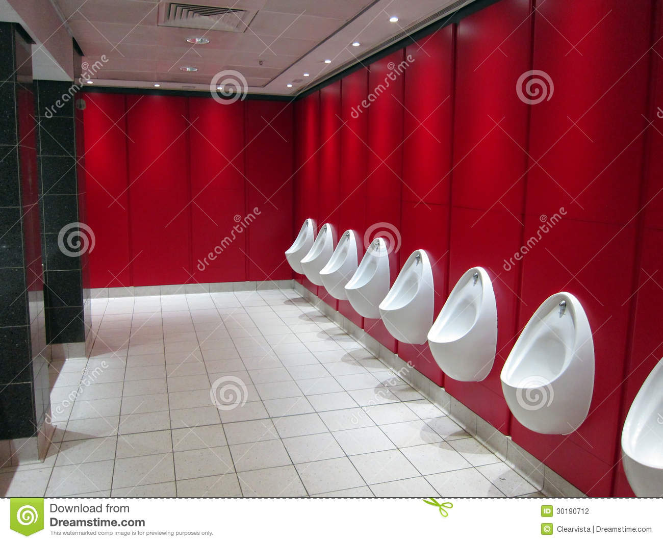 Urinals In A Public Toilets Stock Photography Image