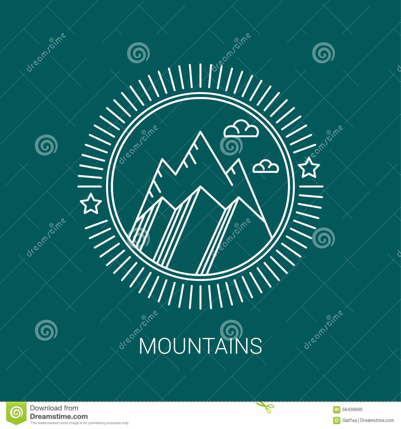 Line mountain and travel design logos and icons stock vector line mountain and travel design logos and icons kristyandbryce Images