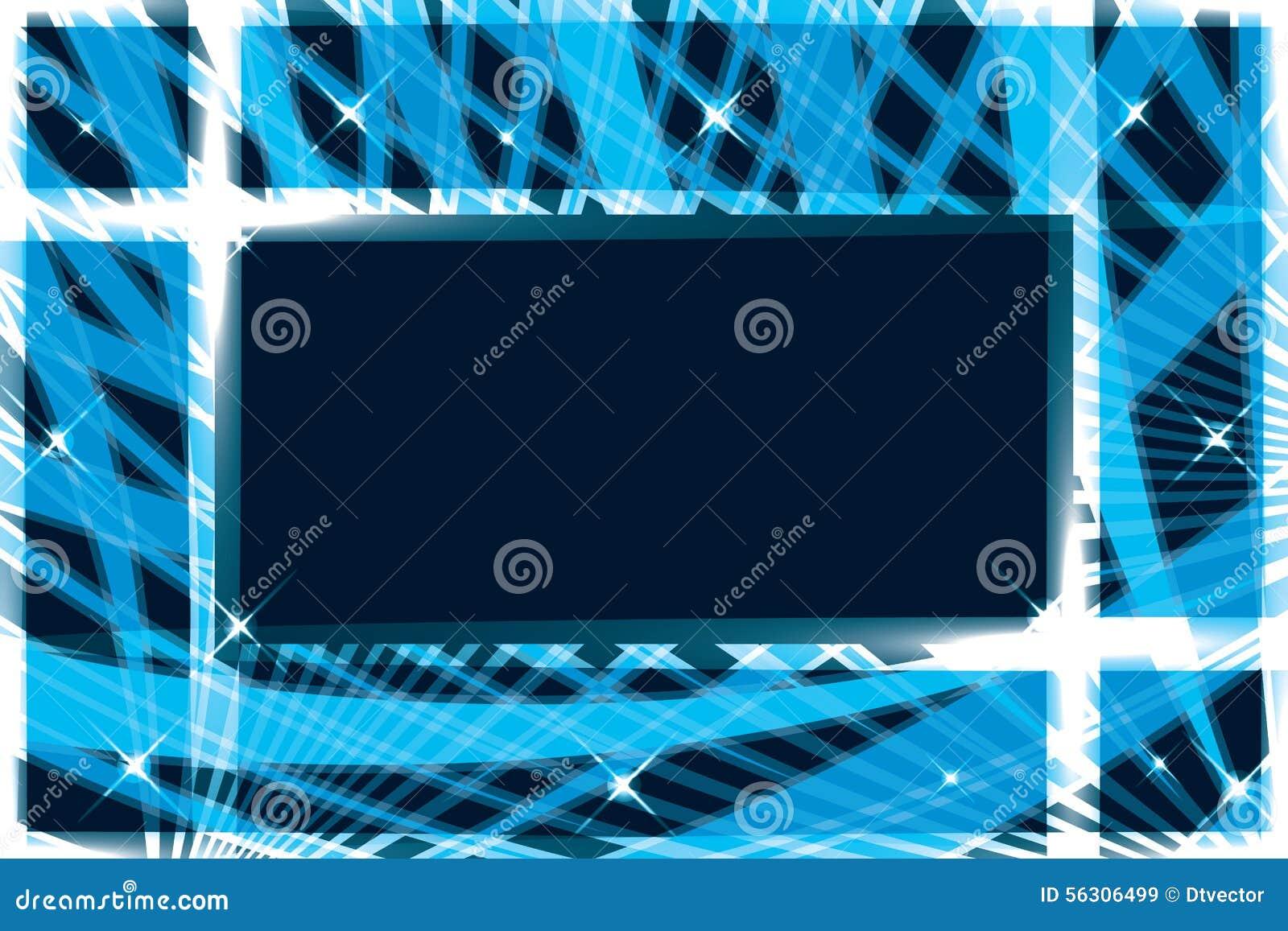 Line rectangle frame banner card stock vector image for Bright lights design center