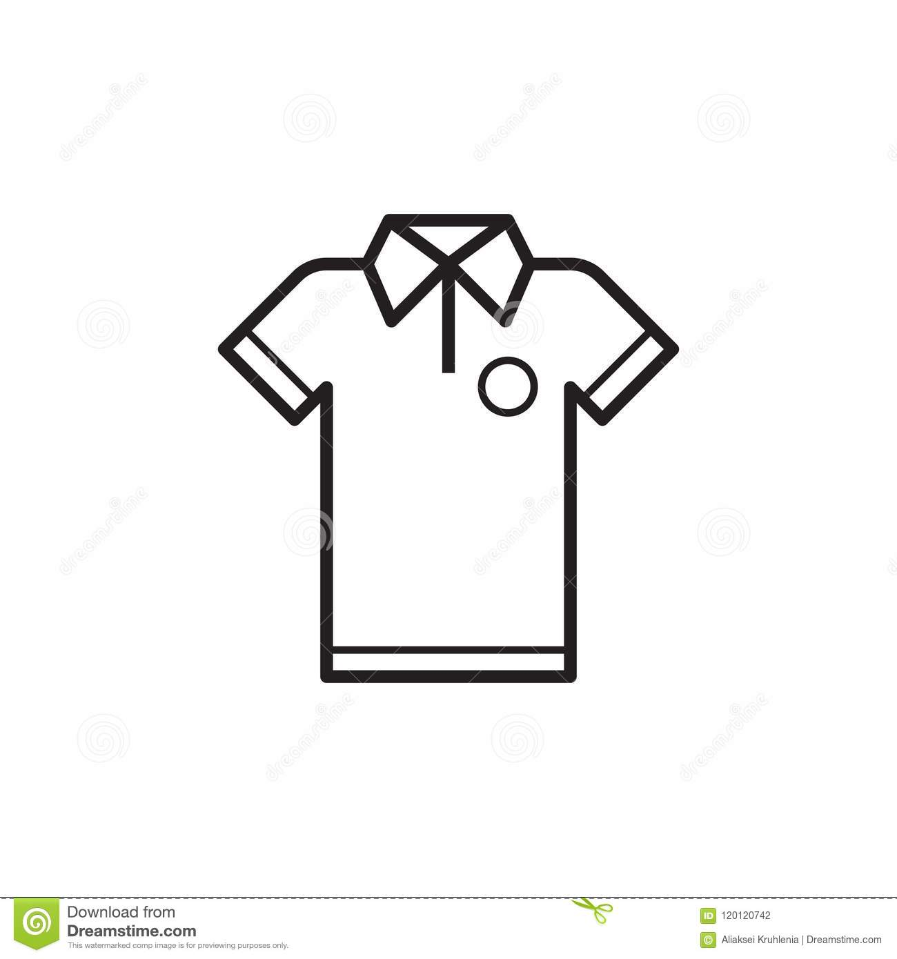 line t shirt icon stock vector illustration of female 120120742 https www dreamstime com line t shirt icon outlined t shirt icon isolated white background sport man shirt line art design image120120742