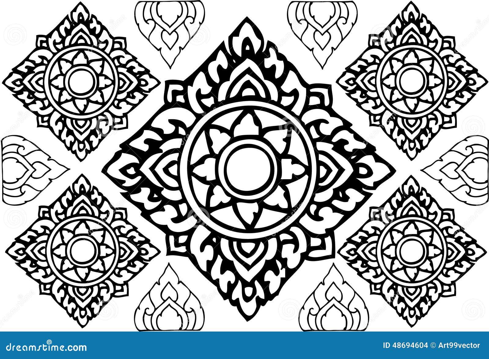 Graphic Line Design Art : Line thai design stock illustration image