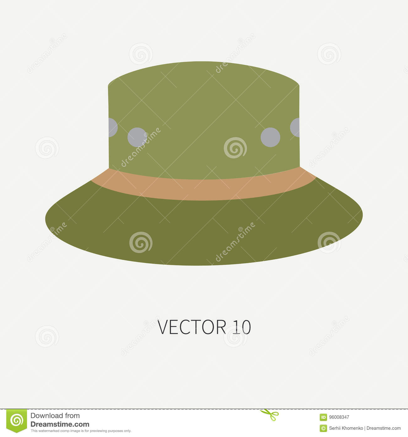 35ac528bfe06e Line Tile Color Vector Hunt And Camping Icon Hat
