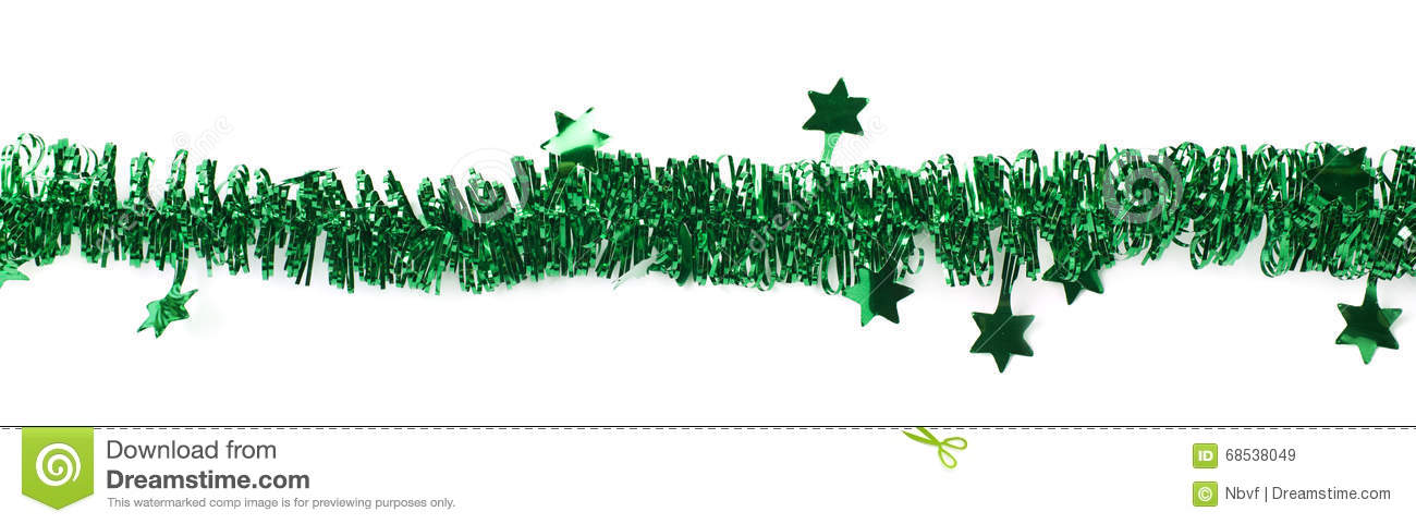 Line of a tinsel garland