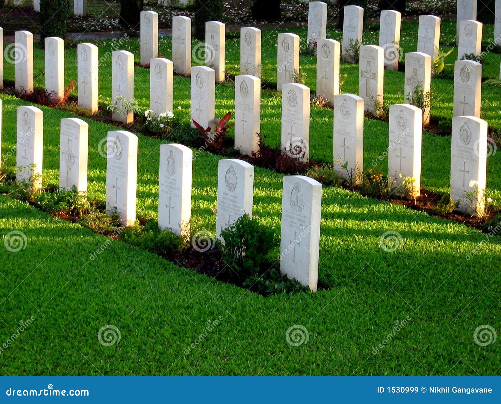 Line of Tombstones