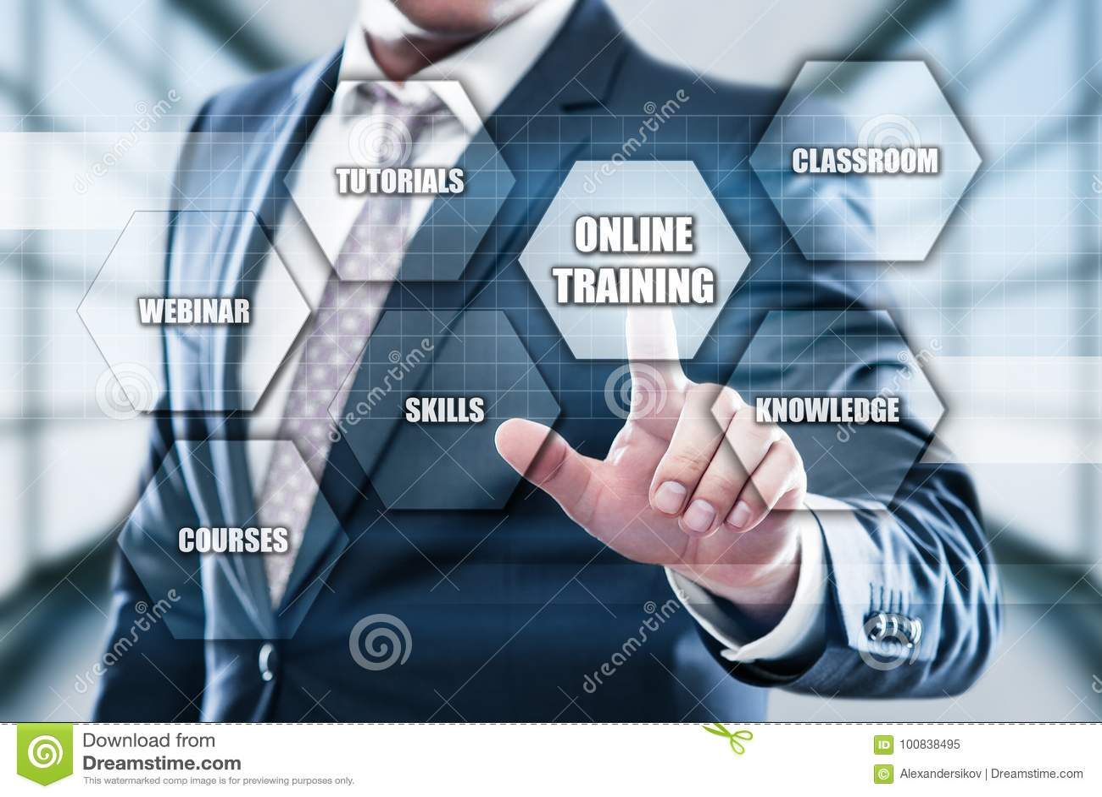 On-line-Training Webinar-E-Learning-Fähigkeits-Geschäfts-Internet-Technologie-Konzept