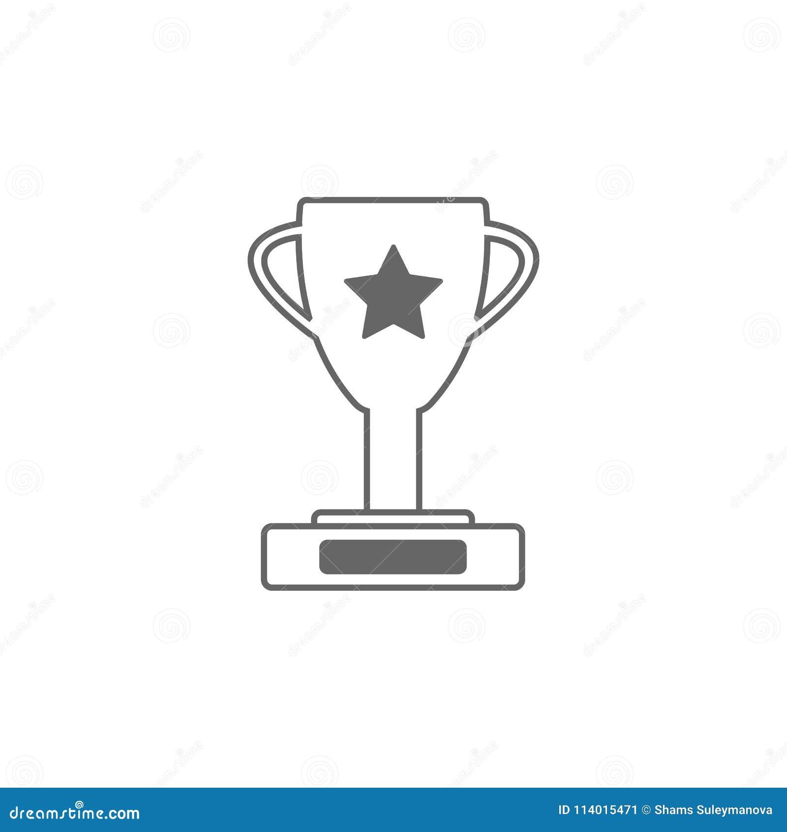 line trophy icon simple element illustration trophy symbol design