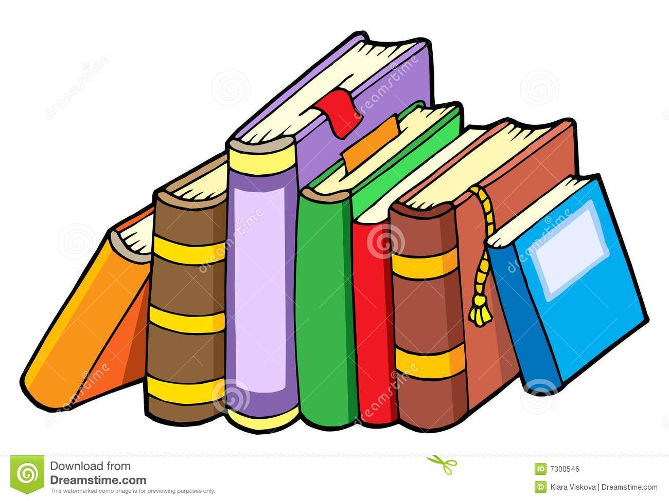Line Of Various Books Royalty Free Stock Image - Image ...