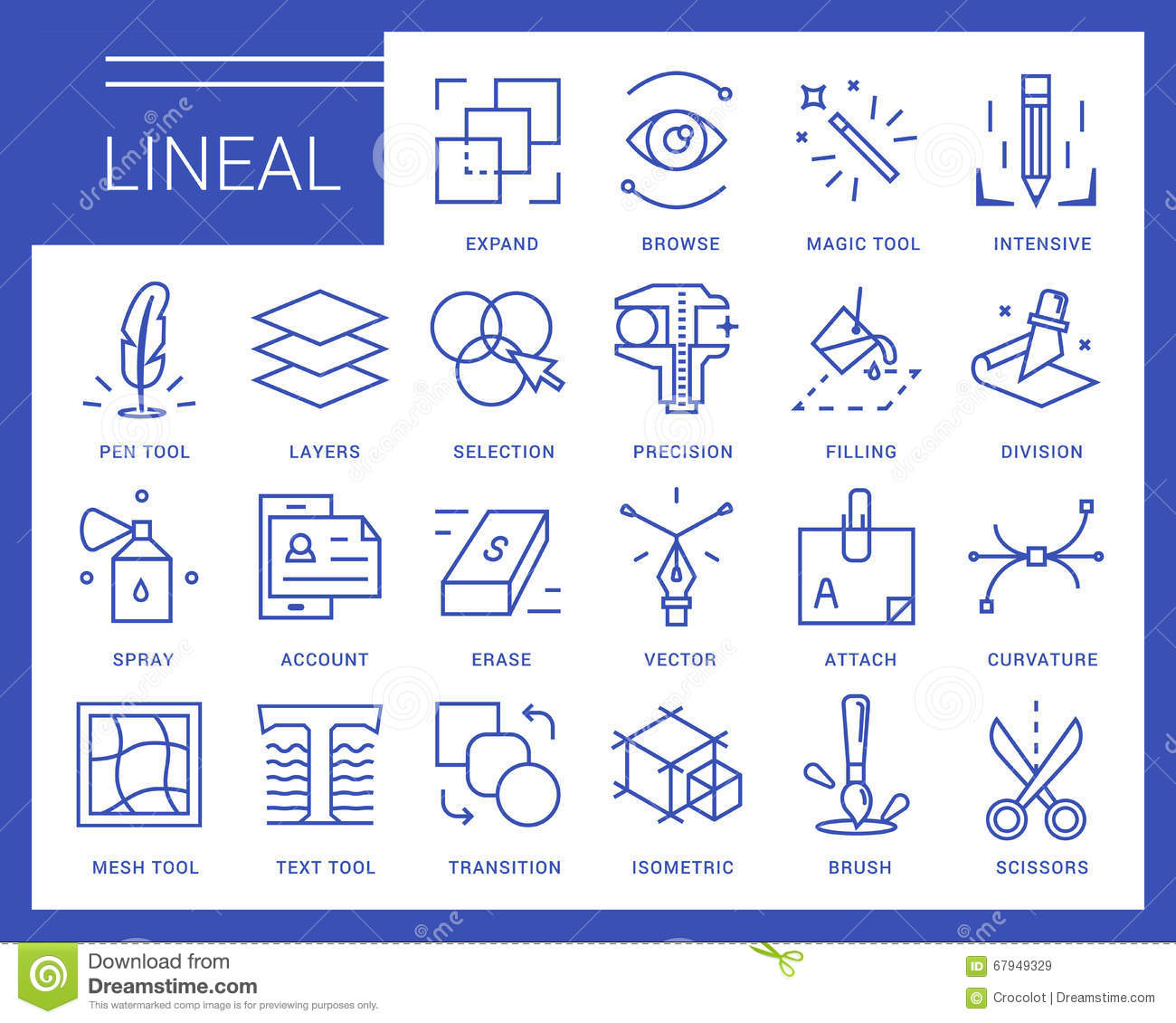Line Vector Icons In A Modern Style Stock Vector Image
