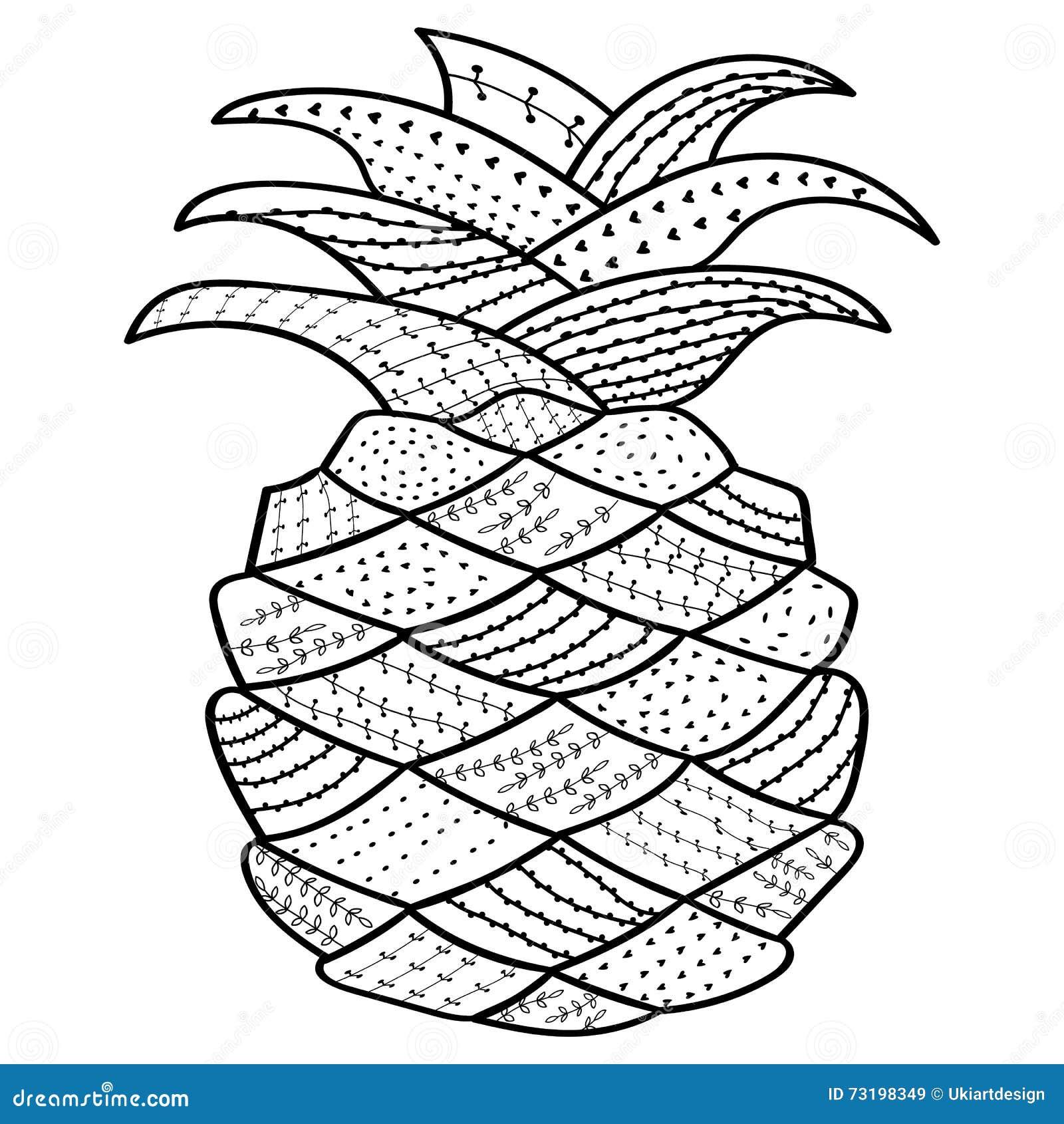 Linea Arte Capricciosa Dell Ananas Libro Da Colorare Per L Adulto