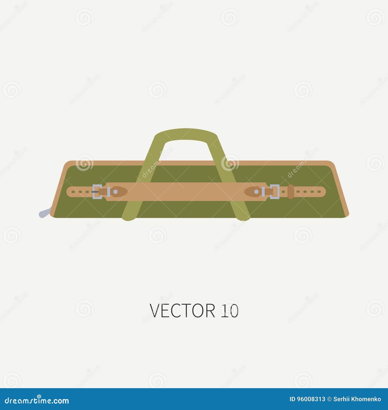 Linea caccia di vettore di colore delle mattonelle ed intelaiatura di  campeggio dell icona bbba8f558b9
