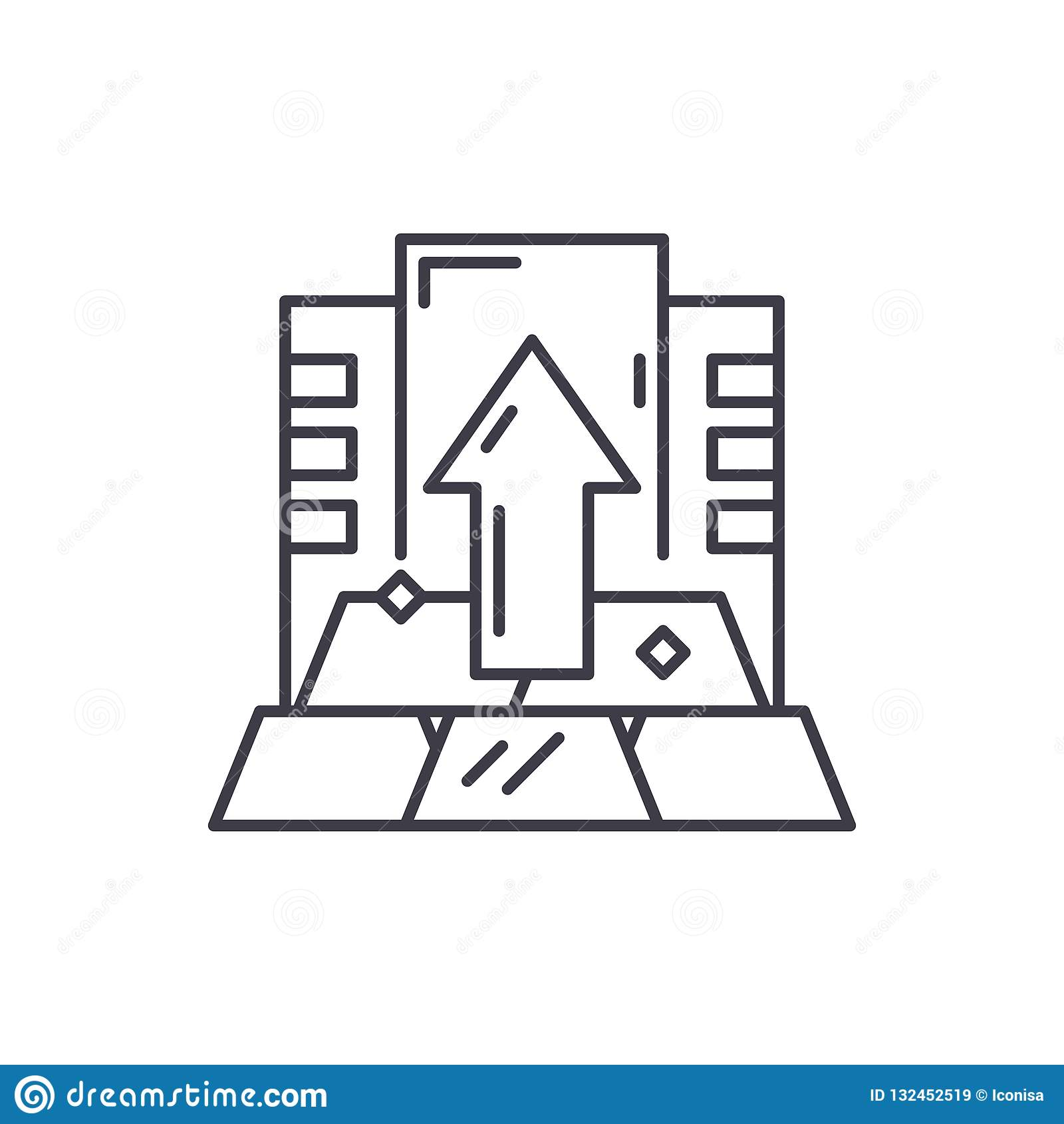 Linea capitale concetto dell icona Illustrazione lineare di vettore capitale, simbolo, segno