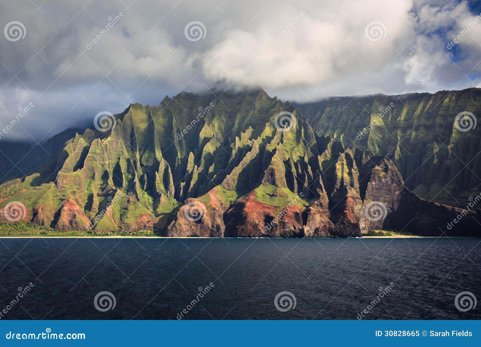 Linea costiera Kauai del Na Pali