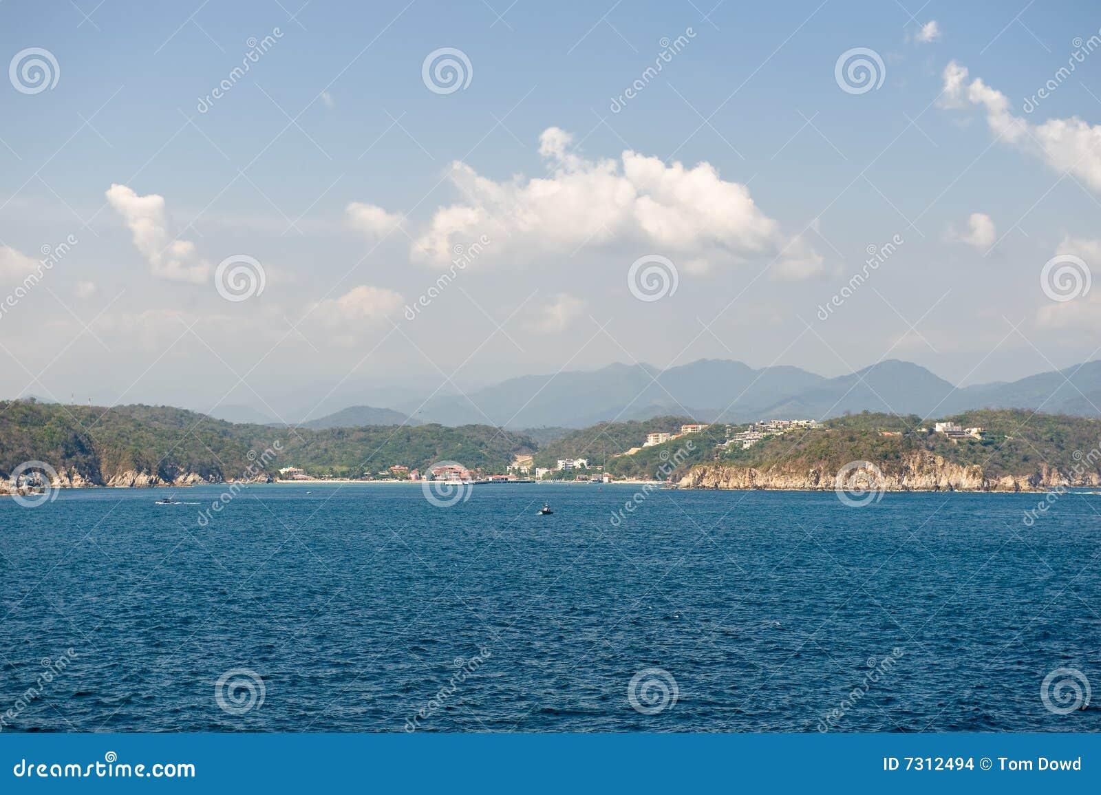 Linea costiera Messico di Huatulco