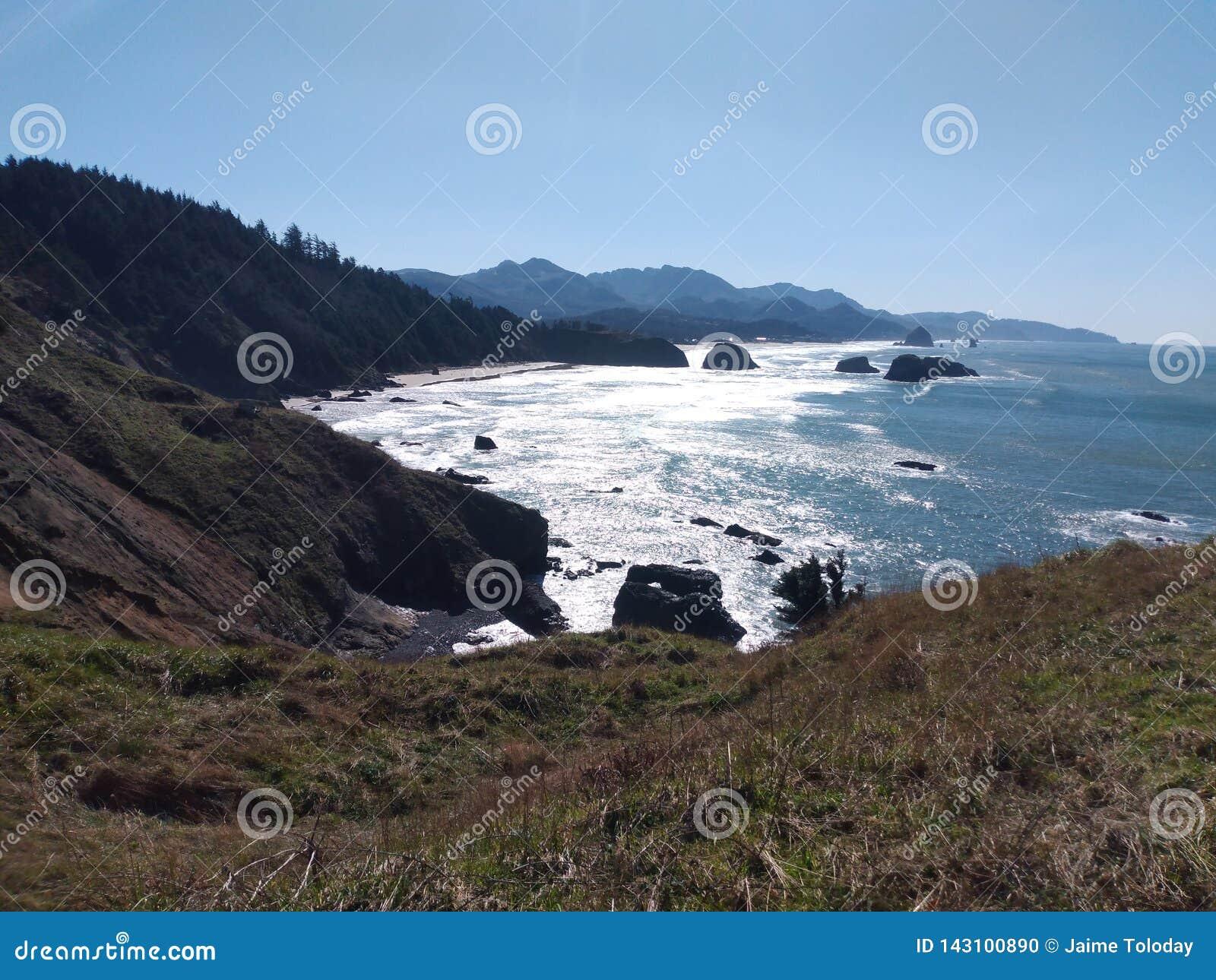 Linea della costa dell Oregon