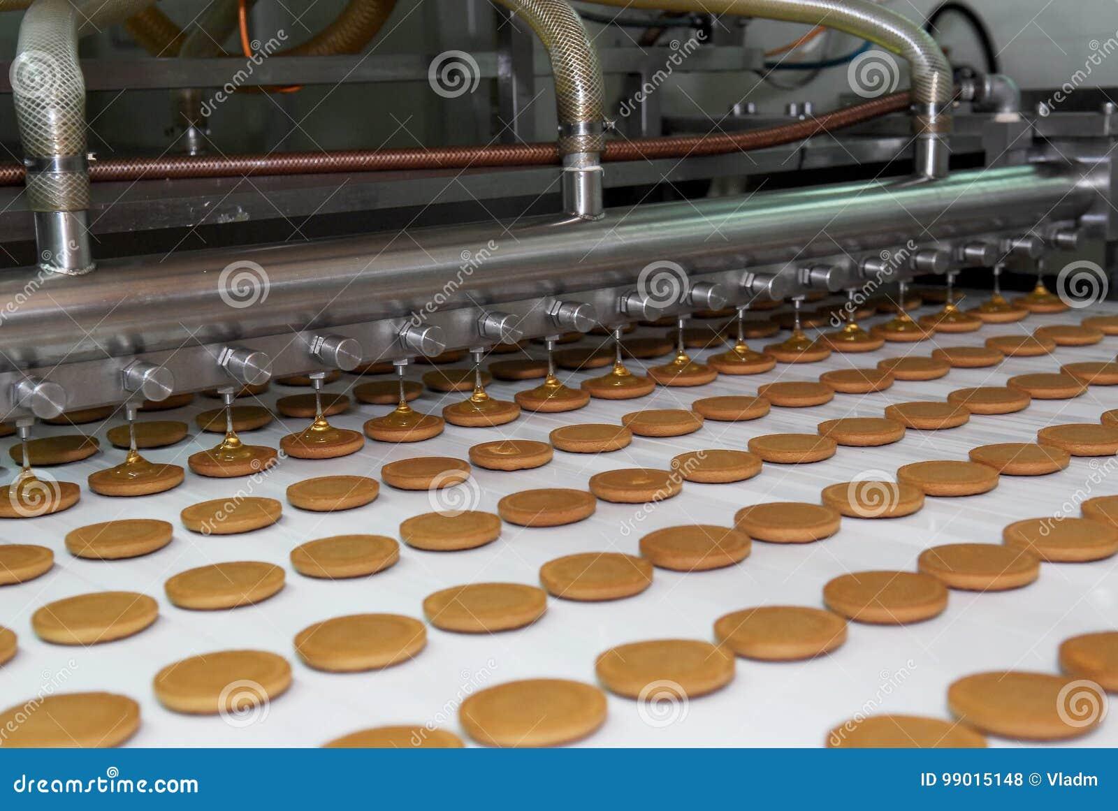 Linea della fabbrica di produzione della cialda e del biscotto manufacturing