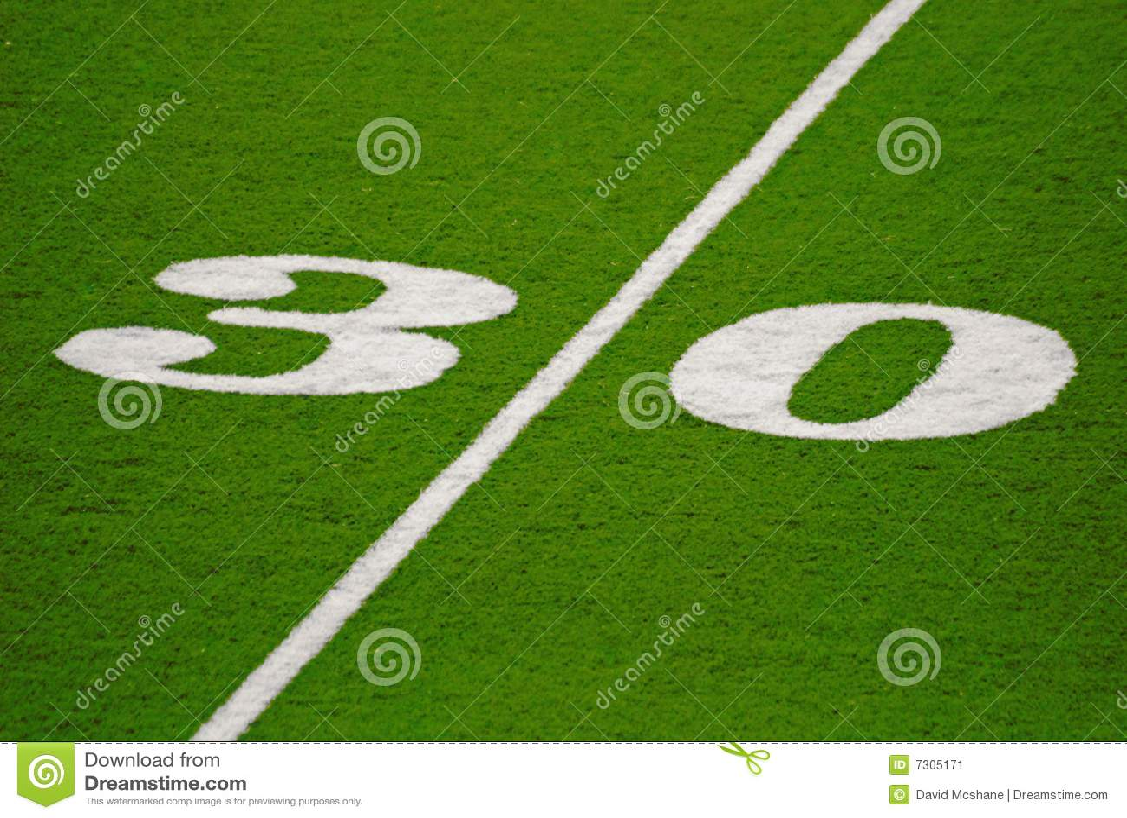 Linea delle yard trenta