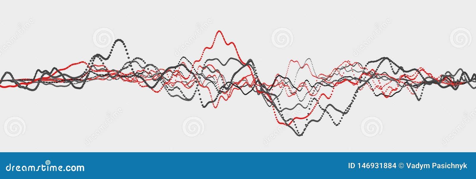 Linea di battito cardiaco cardiogram Impulso del cuore Flusso leggero dinamico rappresentazione 3d