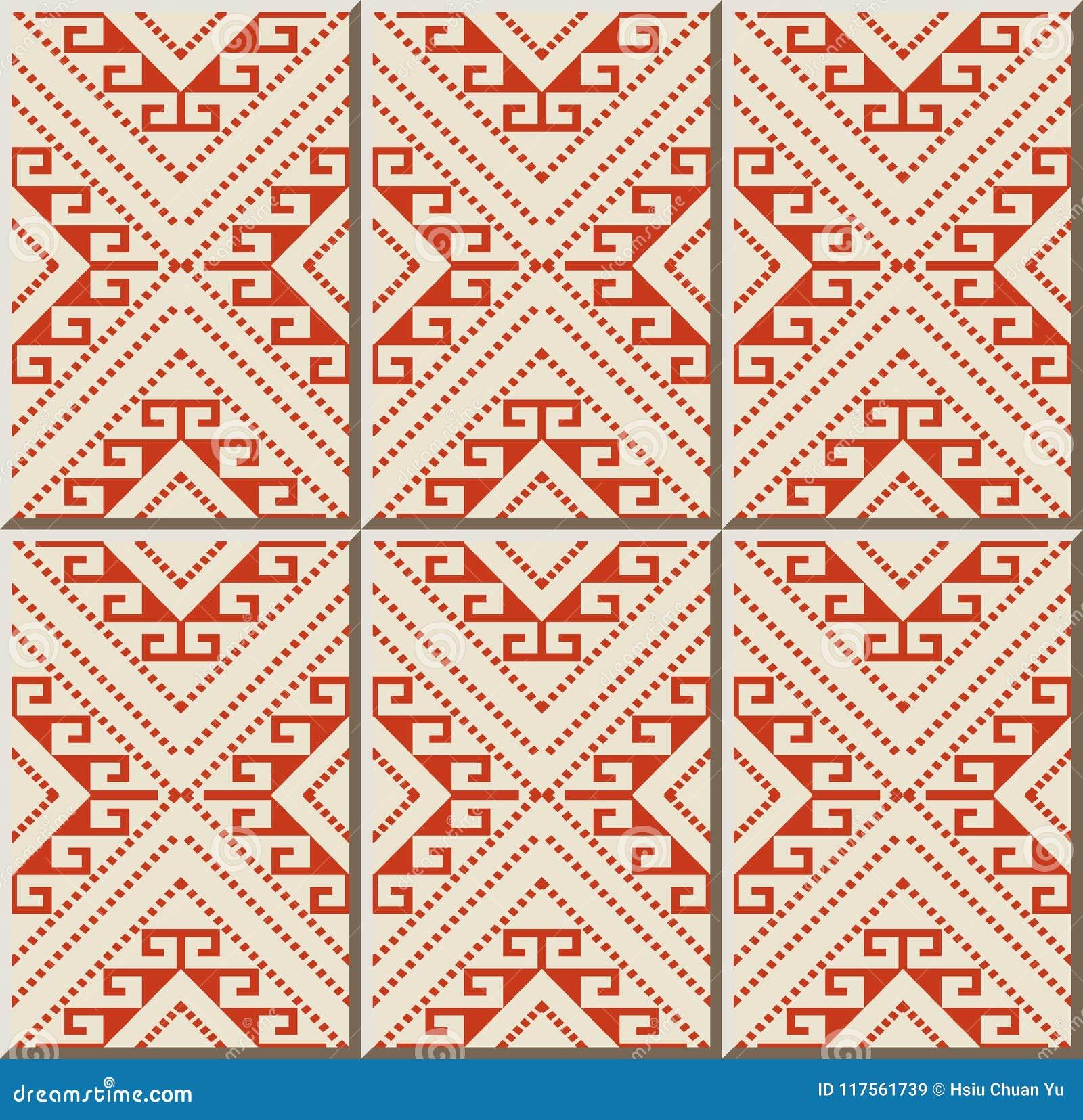 Linea di Diamond Geometry Cross Frame Dot del controllo del modello della piastrella di ceramica